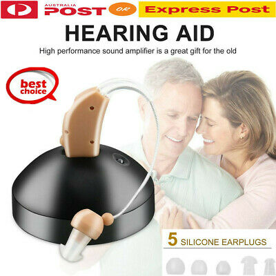 Hot Rechargeable Hearing Aids Sound Voice Amplifier Behind The Ear EU Plug CT