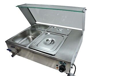 Ace Bain Marie Wet With Glass Front En339