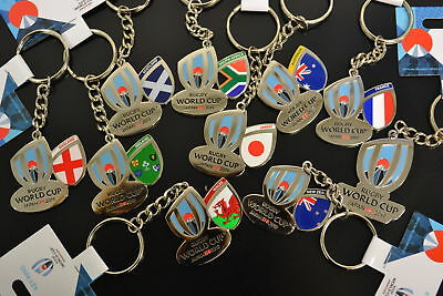 NEW Rugby World Cup Japan 2019 Keyring Logo England Wales Scotland Ireland ++