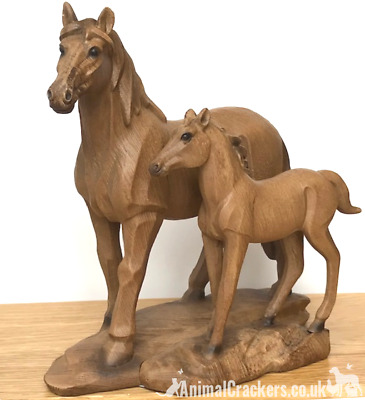Collectable Mare /& Foal Horse Ornament Reflections Bronze Resin Equine Sculpture