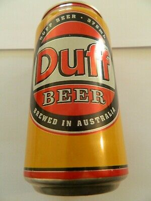 The Simpson's Duff Beer Can Unopened