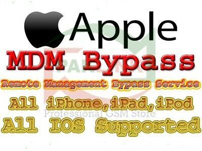APPLE MDM REMOTE MANAGMENT BYPASS IPHONE / IPAD / IPOD all iOS 12.4