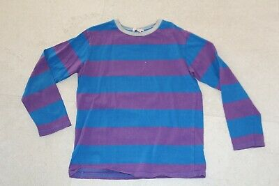 bluezoo age 7-8 boys clothes long sleeved top stripey blue purple