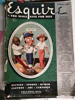 Vintage February 1938 Esquire Men S Magazine Pin Up Girl Satire
