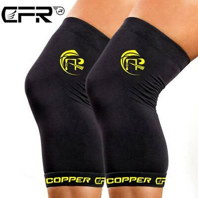 Copper Compression Knee Support Sleeve Brace Muscle Joint Pain For Men Women HT