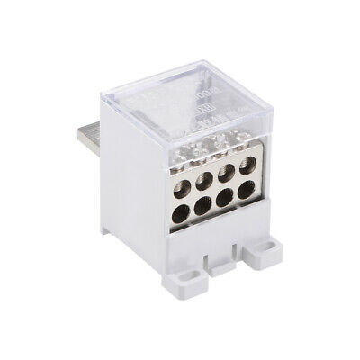 1 In 8 Out DIN Rail Terminal Blocks 400A Distribution Block for Circuit Breaker