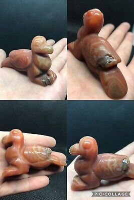 Excellent rare ancient agate stone Roman animal giant bead