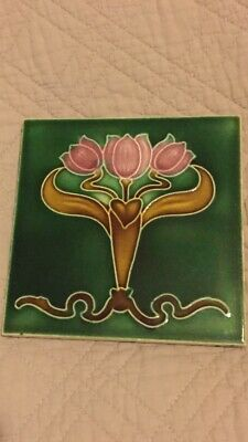 Original Art Nouveau Tile By TA Simpson