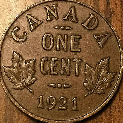 1921 CANADA SMALL CENT PENNY - Excellent example!
