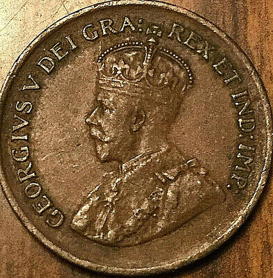 1929 CANADA SMALL CENT PENNY SMALL 1 CENT COIN - Excellent example!