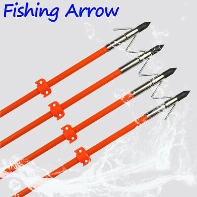"""3x 32""""in Fishing Arrow Solid Arrows Bowfishing with Broadhead Stopper Precision"""
