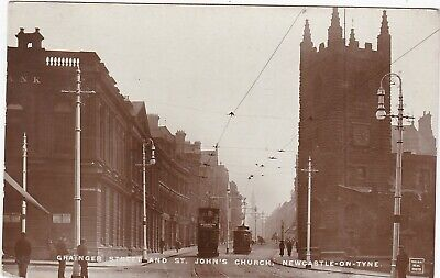 Grainger Street & St. John's Church, NEWCASTLE UPON TYNE, Northumberland RP
