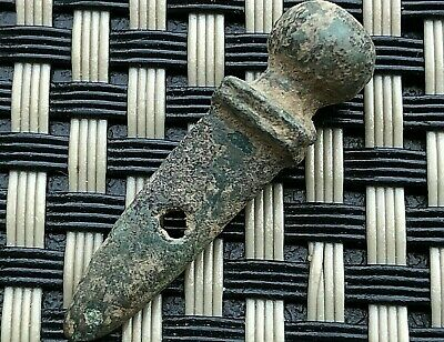 Ancient Roman Bronze Gladiator Sword Amulet Circa 100 Bc-200 Ad Very Scarce