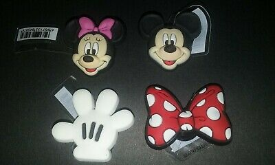 Shoe Charms Mickey Mouse, Minnie, Glove, Polka Dot Bow for Clogs Jibbitz