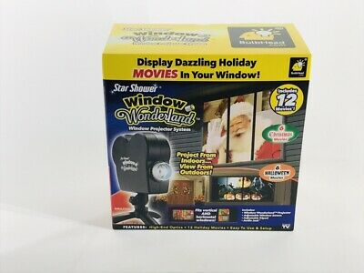 Star Shower Window Wonderland Projector System Christmas Halloween As Seen On Tv