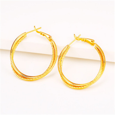 Gold-Plated Vietnamese Sargent Earring With Twin-Thread Braid Earbob Flawless