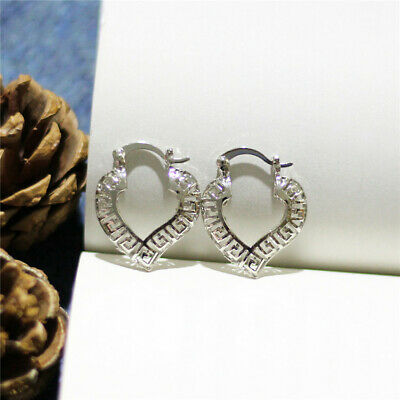Heart-shaped Great Wall Three-dimensional Hollowing out Earrings Fashion