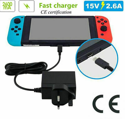 Nintendo Switch Switch Mains Adaptor Adapter Charger Charging Plug UK -Brand New