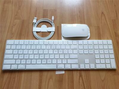 Apple Wireless Bluetooth Rechargeable Magic Numeric Keyboard + Magic Mouse 2