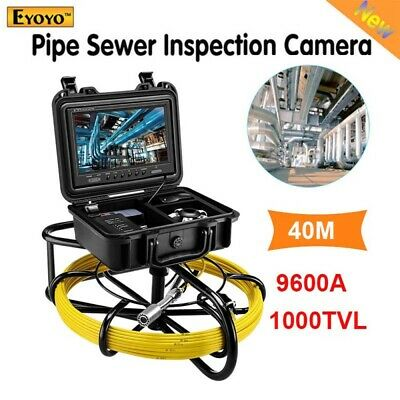"""Eyoyo 9600A Under Water Drain Sewer Inspection Camera System 40M 9"""" Waterproof"""