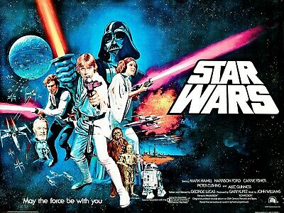 Vintage Movie Poster - Star Wars - May the Force Be With You (A4 and A3)