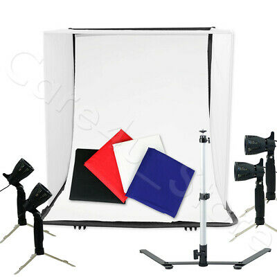 "40cm 16"" Portable Light Room Photo Studio Photography Lighting Tent Kit Box Lamp"
