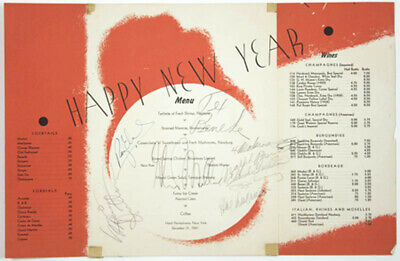 Glenn Miller Band - Menu Signed Circa 1941 With Co-Signers