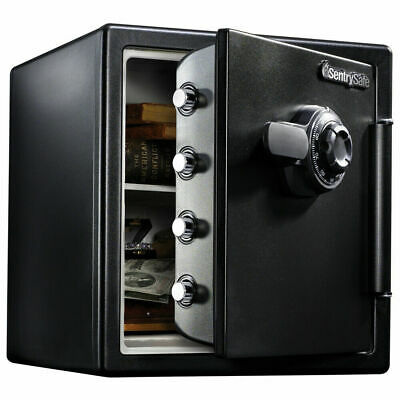 SENTRYSAFE FIRE-RESISTANT SAFE and Waterproof with Dial Combo Large  Protection