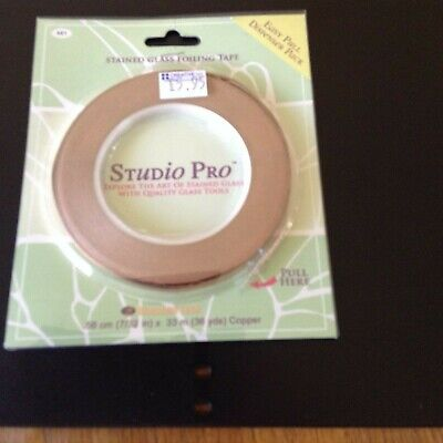 """CLEARANCE - """"STUDIO PRO"""" STAINED GLASS FOILING TAPE - 33m X .56cm  No681"""