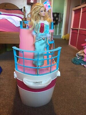 barbie cruise ship boat in pink and white