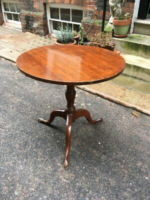 Victorian mahogany tilt top wine or occasional table