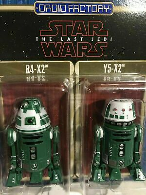 Disney Parks R4-X2 & Y5-X2 Star Wars: The Last Jedi Droid Factory Figure Set New