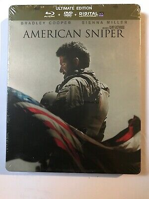 Steelbook American Sniper Combo Blu Ray+Dvd Edition Collector Neuf Sous Blister