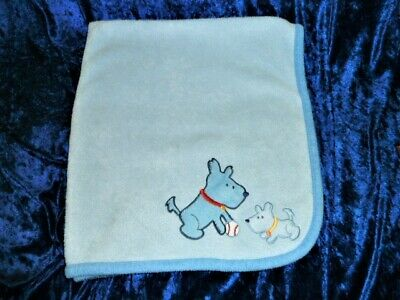 Carters Child Of Mine Puppy Blue Baby Blanket Baseball Dogs Ball Puppies