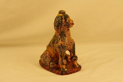 Breininger Pottery Redware Poodle with Stick April 1988 Rare
