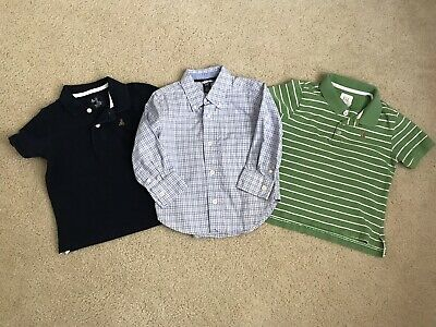 Baby Toddler Boy 2T Gap Lot 3pc Polo Collared Shirts
