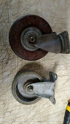 1 vintage colson & 1 will-mat caster