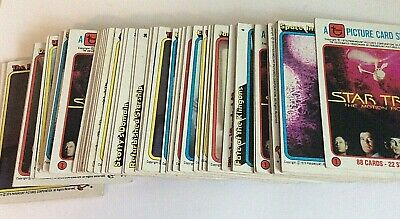 Lot of 64 Star Trek Trading Cards, Incomplete Set w/ Multiples, 1979