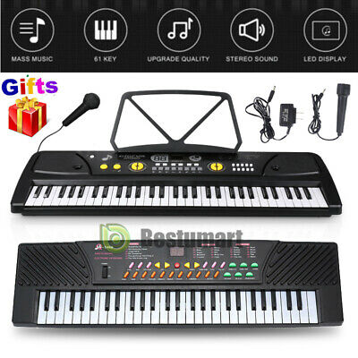 61 Key Electronic Keyboard Electric Music Digital Piano Organ for Kid Children