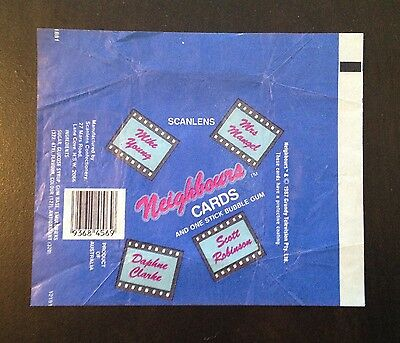 1987 Scanlens 'Neighbours' Trading Cards - Wax Pack Wrapper