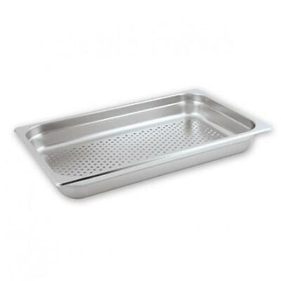 3x Bain Marie Tray / Steam Pan / Gastronorm Perforated 1/1 Size 65mm Deep