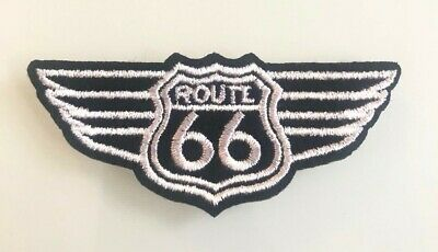Ecusson Patch Brode Thermocollant Route 66 Usa Biker Harley Motard