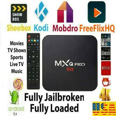 4K 3D 64Bit Android 7.1 TV Box Quad Core 1080P Smart HDMI WIFI KODI 17.6 MXQ Pro