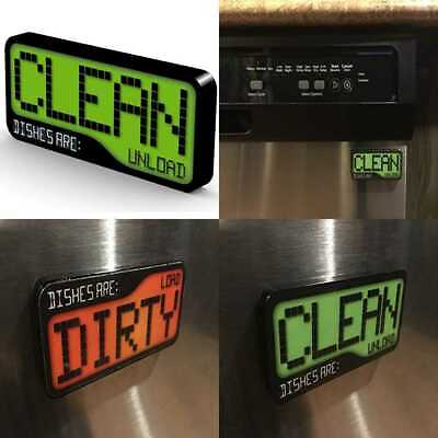 Reversible Double Sided Clean Dirty Dishwasher Magnet Super Strong Durable & Wat