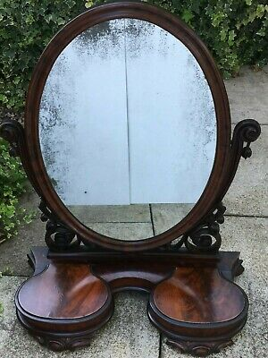 Antique Distressed Mirror Dressing Table Mirror Oval Antiqued Plate Mirror Foxed