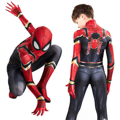 Vestito cosplay per bambini/adulti Iron Spiderman Costume Infinity War