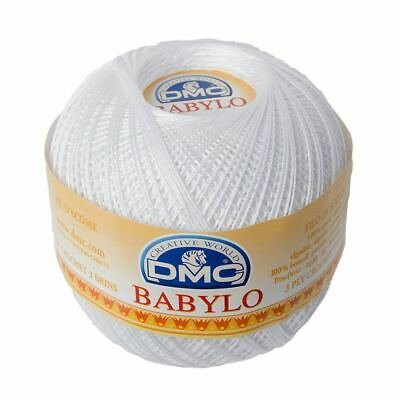 DMC Babylo 30 Crochet Cotton, 100g Ball, B5200 WHITE