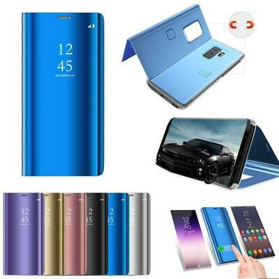 Smart Mirror Leather Flip Stand Case For Samsung Galaxy Note10 S10 S9 S8 Plus