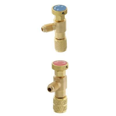 R22 &R410 Refrigeration Charging Safety Adapter Ball Valve A pair