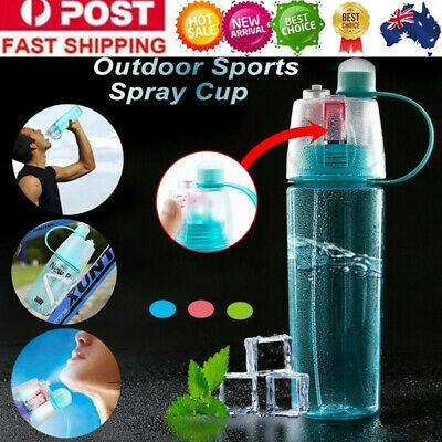400/600ML Water Bottle Drink Spray Cup Climbing Cycling Outdoor Sport Portable